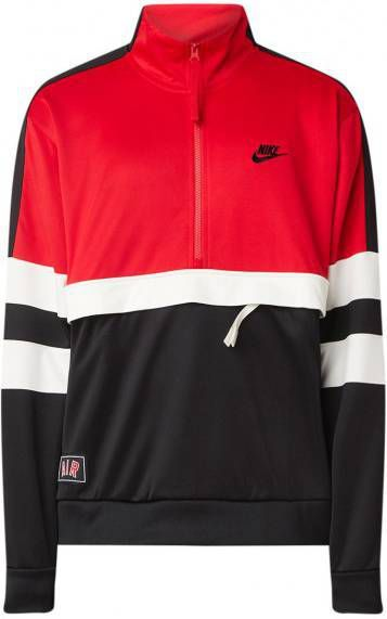 Nike Air 12 Zip Track Top Heren Rood Heren Allesales.nl