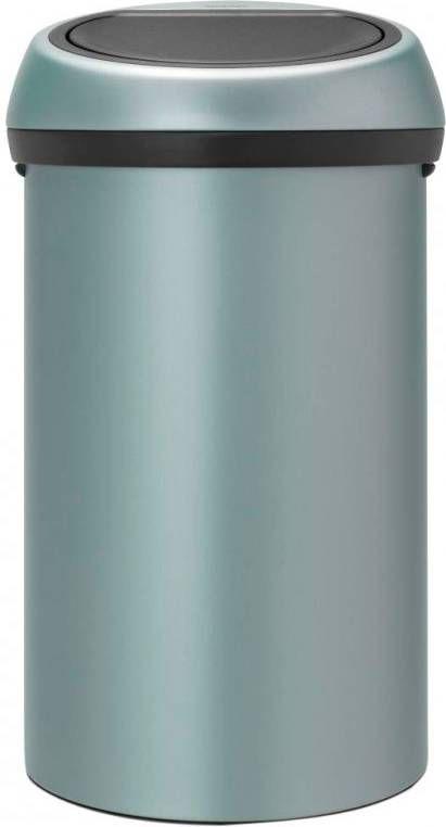 Brabantia Prullenbak 60 Liter.Brabantia Touch Bin Prullenbak 60 L Metallic Mint