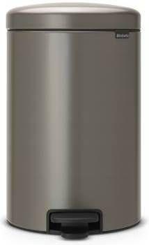 Brabantia 20 Liter Pedaalemmer.Brabantia Newicon Pedaalemmer 20 Liter Platinum