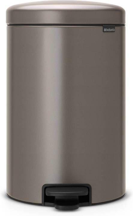 Brabantia Pedaalemmer 20l.Brabantia Newicon Pedaalemmer 20 Liter Platinum